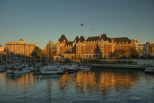sunset evening sunshine town victoria canada britishcolumbia fairmontempress architecture walk cozy comfy tranquil warmth downtown reflections