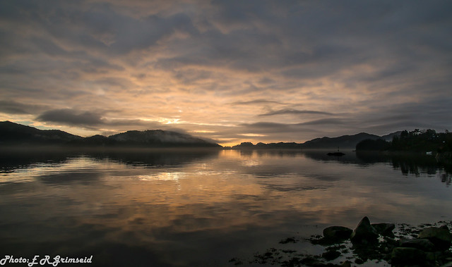 Fanafjorden , late afternoon