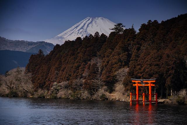 Mount Fuji, Ashinoko Lake & A Shinto Shrine