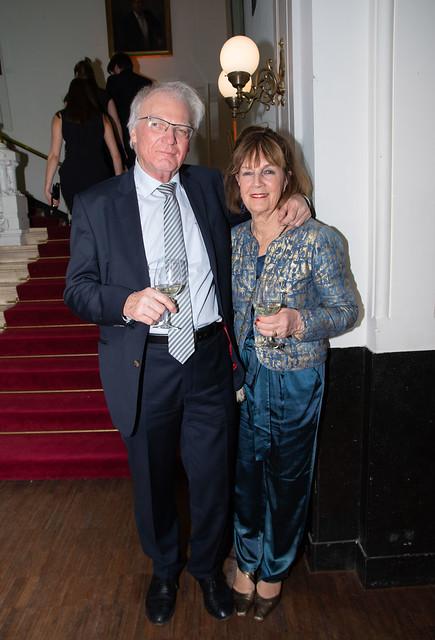 Herman Pleij met echtgenote