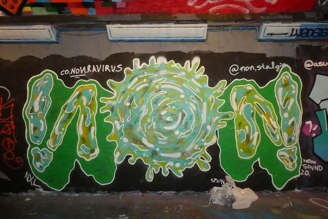 Non graffiti, Leake Street (Coronavirus)