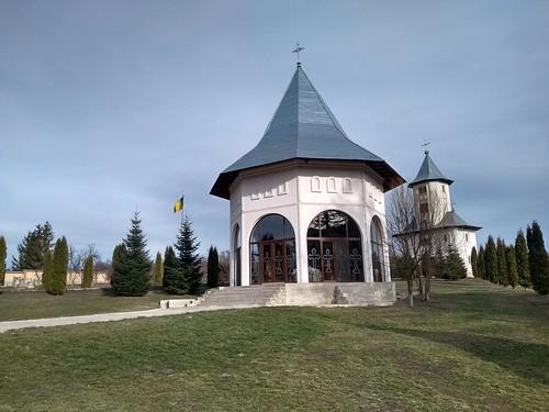 romania motorola gorovei monastery tower roof grass sky