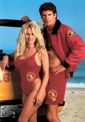 Pamela Anderson and David Hasselhoff in Baywatch (1992-1997)