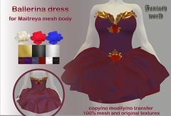 {Fantasy world}Ballerina Dress [ Maitreya]