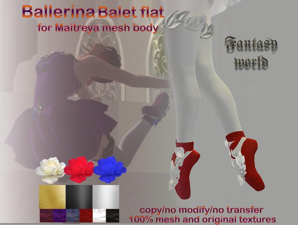 {Fanatasy world} Ballerina – ballet flat [Maitreya]