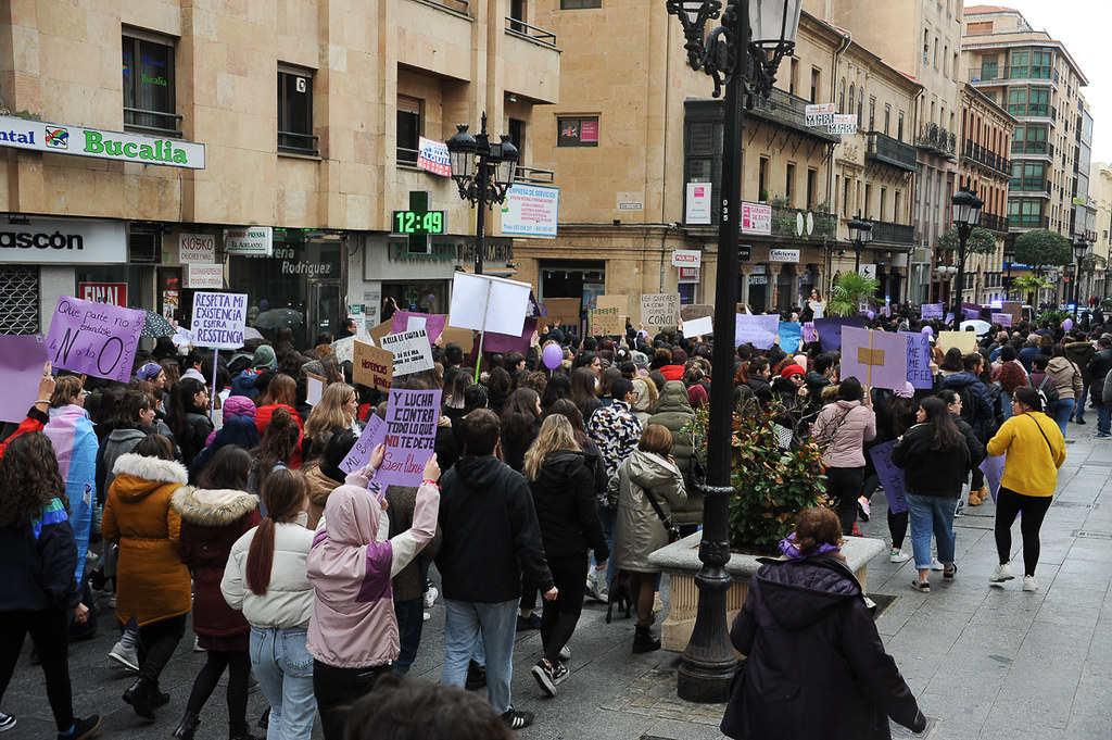 Manifestación 8M en Salamanca Feminismo, Día de la Mujer Trabajadora.  (100)
