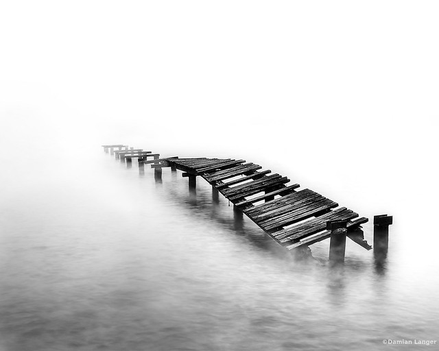 Foggy view of the old pier - Lago di Garda