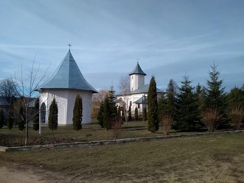 romania motorola gorovei monastery trees church architecture sky