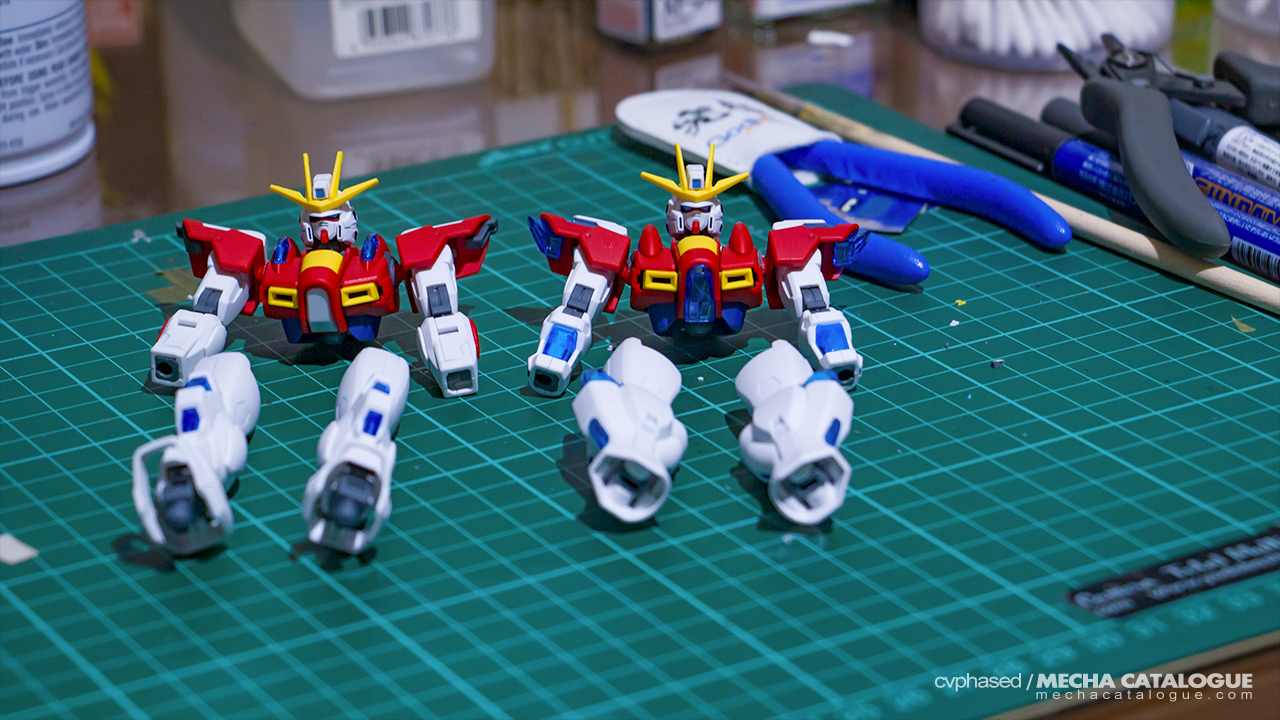 Build or Not, There is no Try! Work-in-Progress #1: HGBF Build/Try Burning Gundam