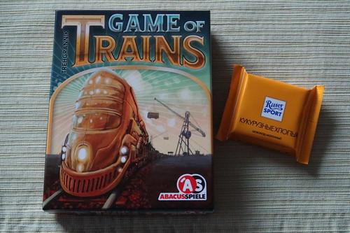 "Ritter Sport Mini Knusperflakes zum Kartenspiel ""Game of Trains"""