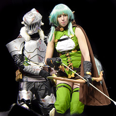 Goblin slayer and High Elf Archer cosplay by @crystalsoulcosplay
