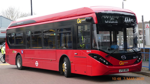 P1010166 SEe110 LF20 XMS at Chingford Station Bus Station Station Road Chingford London