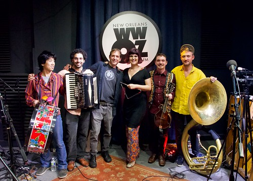 Forro Nola at WWOZ - March 7, 2020. Photo by Michael White.