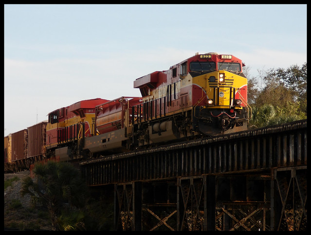 FEC Train over Crane Creek Trestle