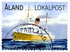 great stamp Åland Lokalpost (Ålandsfärjan 1933; ferry, Fähre, färja, traghetto, フェリー, traversier, lautta, паром, prom, 渡船, feribot, færge, transportar, balsa, العبارة, πορθμείο, ferje) stamps Åland Islands Briefmarken Åland frimärken aland öar timbre Ålan