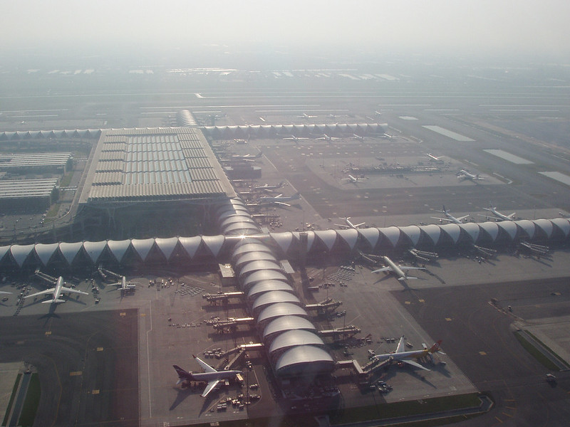 Bangkok Airport from the air