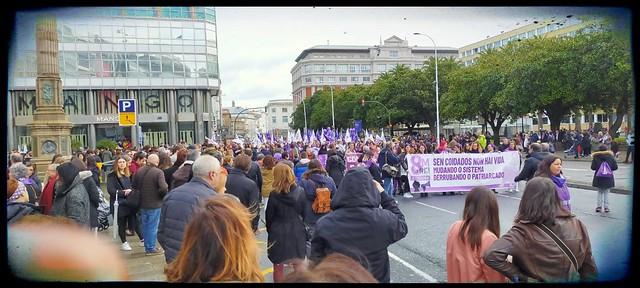 Día 8 de marzo día internacional de la mujer A Coruña