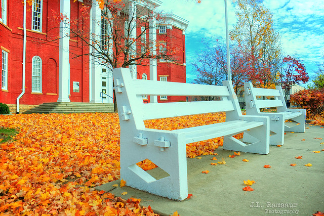 Benches at the Putnam County Courthouse - Cookeville, Tennessee