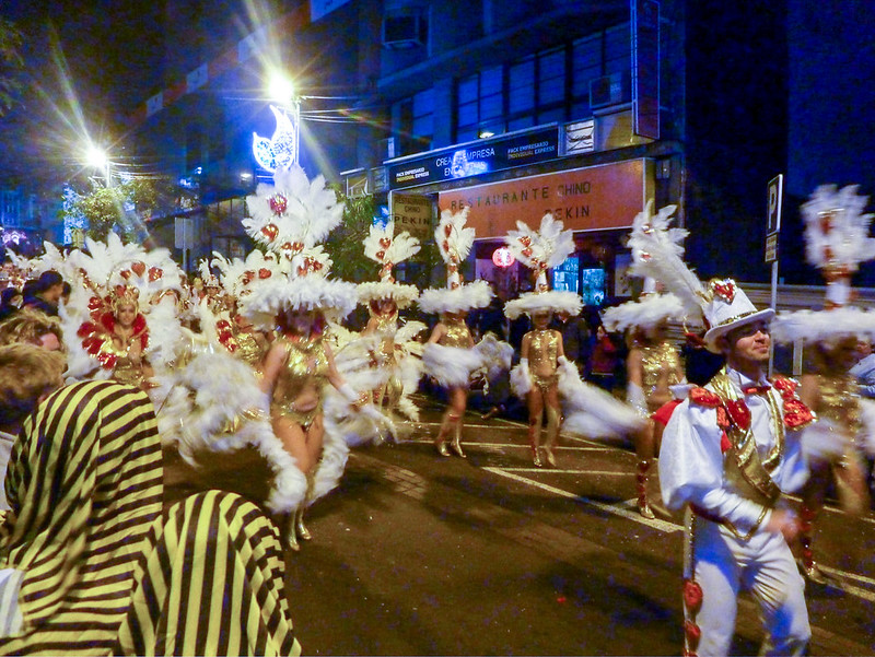 Colorful costumes of the Carnival de Tenerife