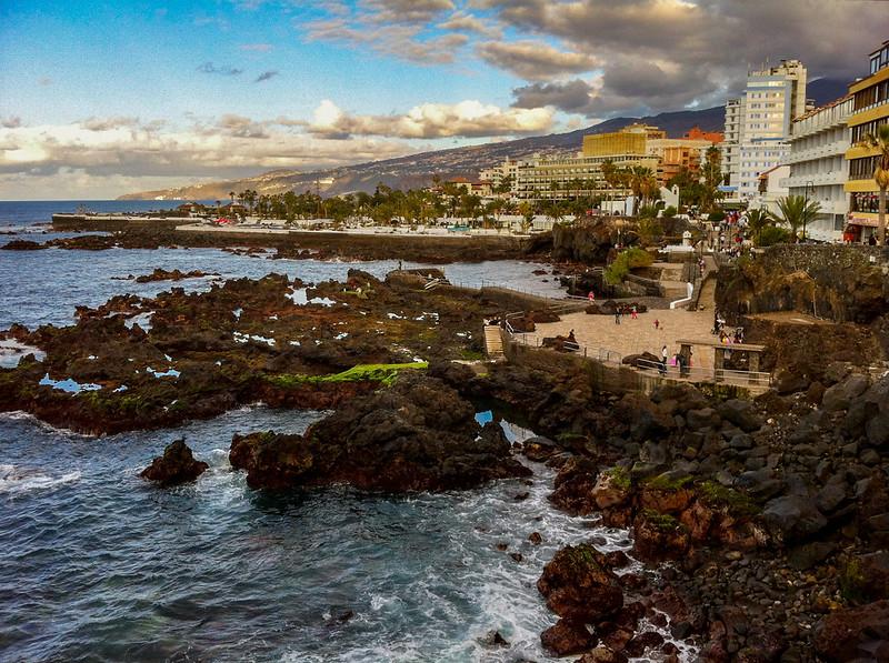 Waterfront of the northern tip of Playa de las Americas