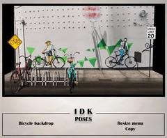 Bicycle backdrop