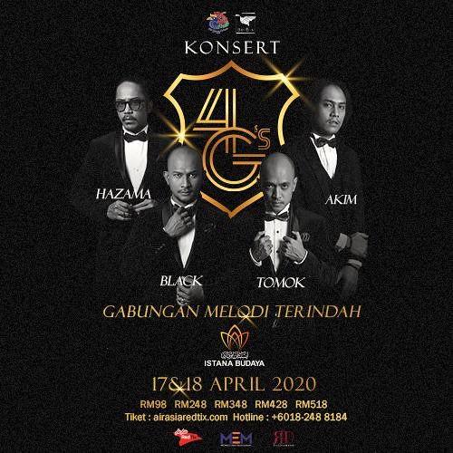 Akim, Black, Tomok & Hazama Bergabung di Konsert 4G Di Istana Budaya