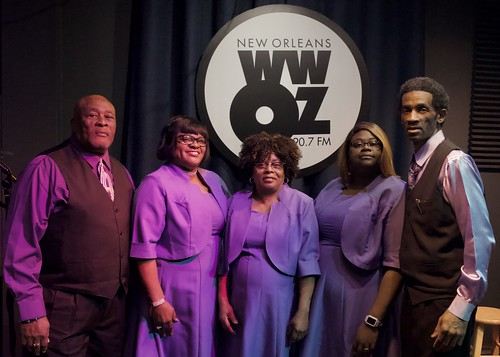 New Orleans Spiritualettes at WWOZ - March 8, 2020. Photo by Michael White.