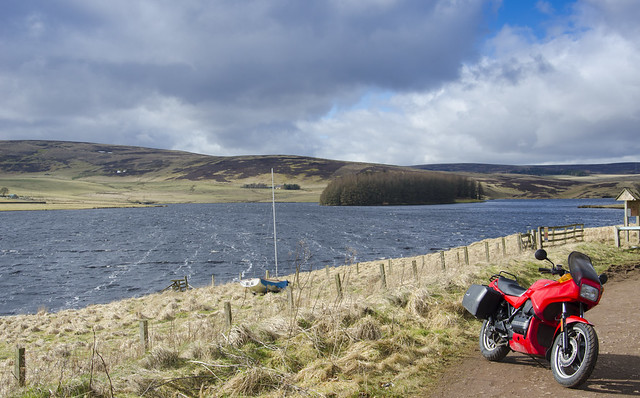 BMW K75 in the Scottish Borders