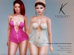 Kaithleen's Harker Linen Body Romper Poster web