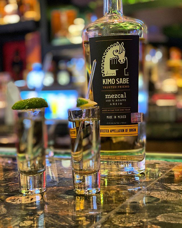 #kvpvegas Sometimes you need Mezcal. @chayolv bartender introduced us to Kimo Sabe Anejo. So smooth, a touch of smoke and very very drinkable. Do not shoot it! Bar offers a scorpion added to shots for $5. We opted out. NOM! #mezcal #kvpinmybelly #shots