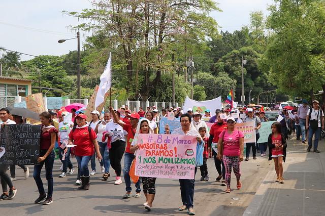 8 de marzo, las mujeres del piedemonte araucano, trenzaron unidad y lucha