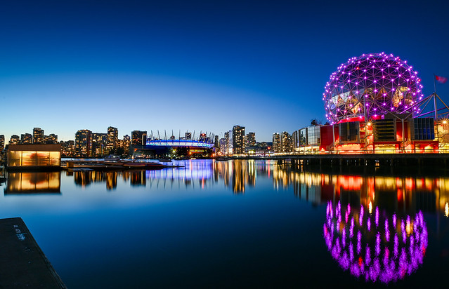Science World and BC Place in False Creek