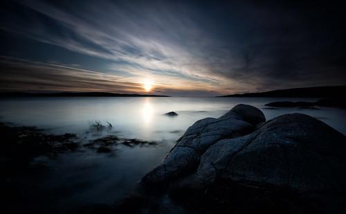 republicofireland countygalway connemaranationalpark longexposure sunset seascape clouds rocks beach whitesands leefilters marumidhgcpl qthompson