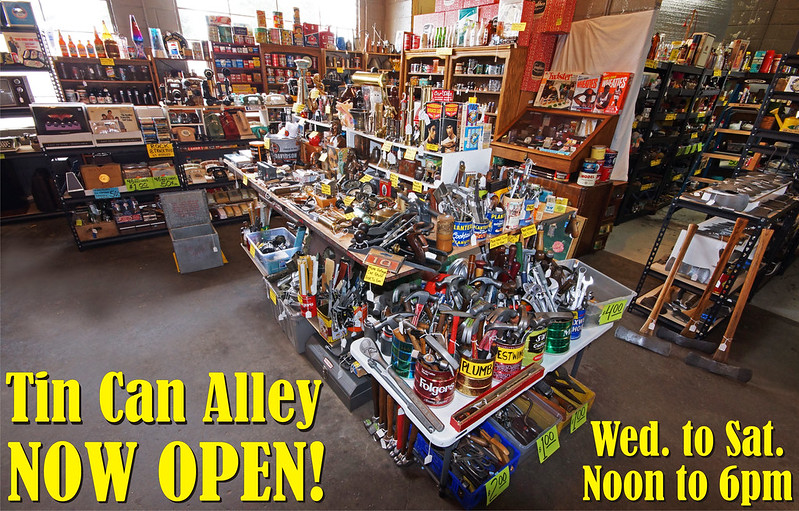 AAA Tin Can Alley Main Photo with text  Now Open 3-05-2020
