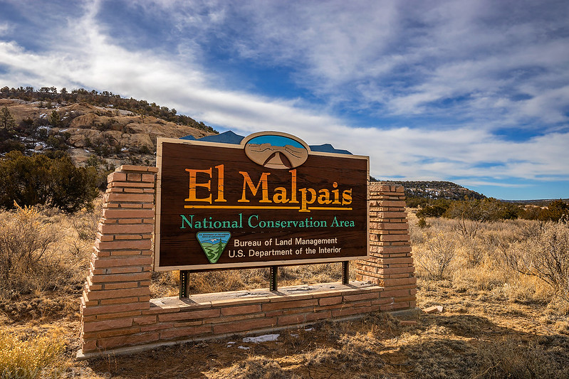 El Malpais National Conservation Area Sign