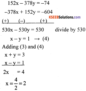 KSEEB Solutions for Class 10 Maths Chapter 3 Pair of Linear Equations in Two Variables Ex 3.7 24