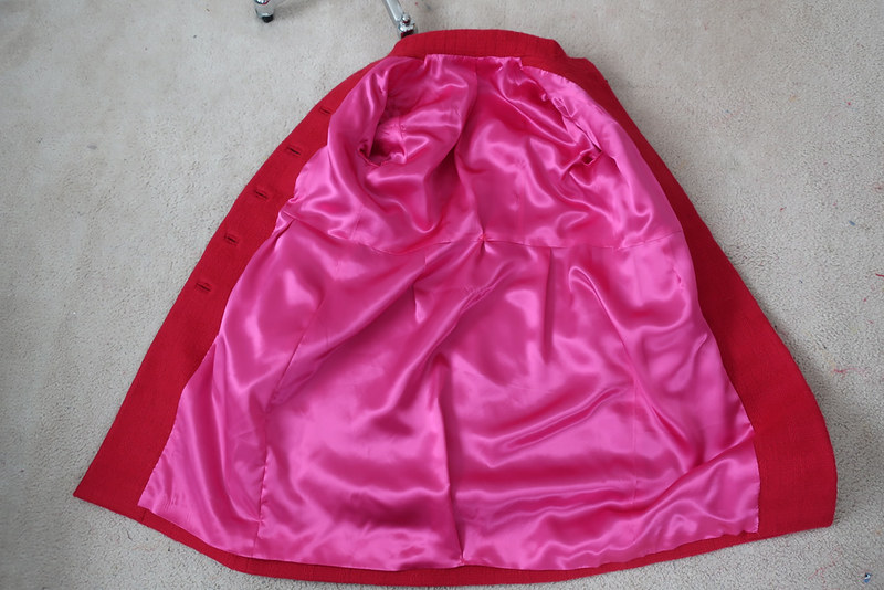 Red coat pink lining