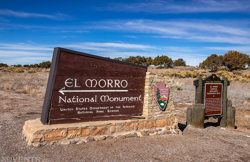 El Morro National Monument Sign