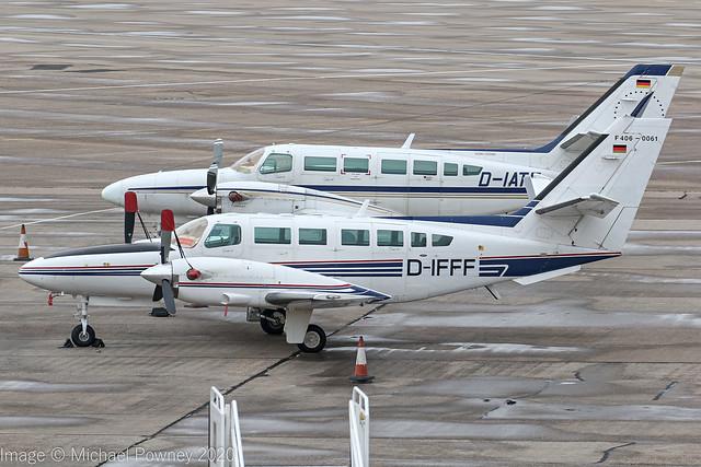 D-IFFF - 1992 ASI Aviation built Cessna F406 Caravan II, on the Elmdon apron at Birmingham