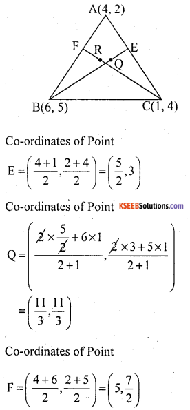 KSEEB Solutions for Class 10 Maths Chapter 7 Coordinate Geometry Ex 7.4 17