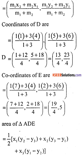 KSEEB Solutions for Class 10 Maths Chapter 7 Coordinate Geometry Ex 7.4 10