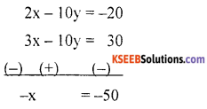 KSEEB Solutions for Class 10 Maths Chapter 3 Pair of Linear Equations in Two Variables Ex 3.7 4