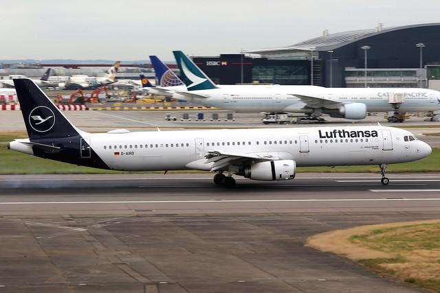 Lufthansa | Airbus A321-200 | D-AIRD | London Heathrow