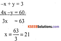 KSEEB Solutions for Class 10 Maths Chapter 3 Pair of Linear Equations in Two Variables Ex 3.7 2