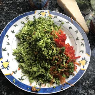 Pâtes et sauce aux légumes2