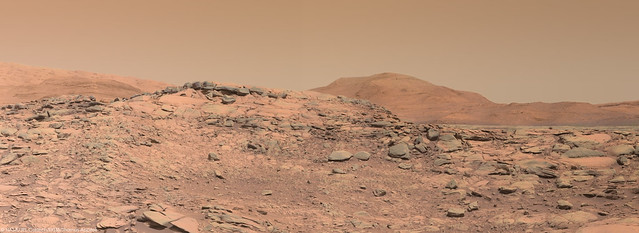 Hills in sight from the summit of Greenheugh pediment - sol 2696
