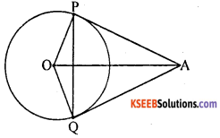 KSEEB Solutions for Class 10 Maths Chapter 4 Circles Additional Questions 16