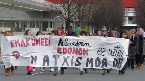 Manifestación 8 Marzo 2020 Hendaia-Irun-Hondarribia