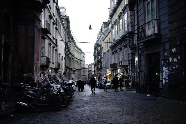 twilight@Via Mezzocannone, Naples, Italy