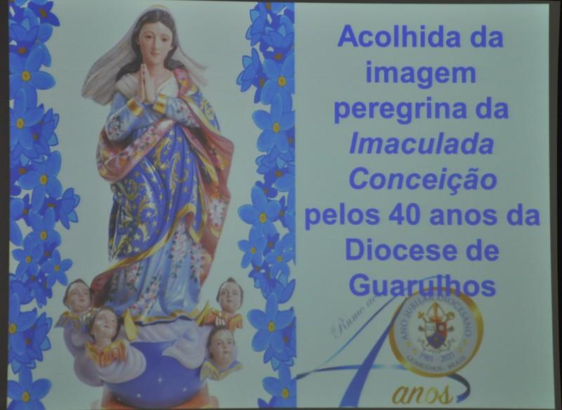 Paróquia Santa Rita - Jd. Cumbica, acolhe a imagem peregrina da Imaculada Conceição